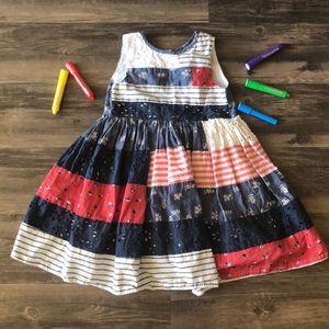 ⛱ Girl's Patchwork Patriotic Dress